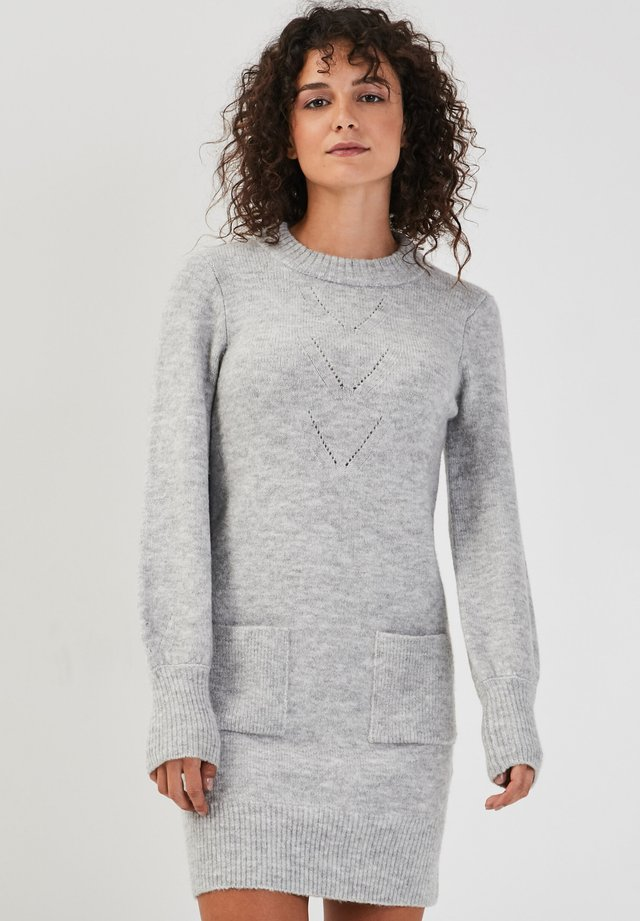 GERADES - Gebreide jurk - gris clair