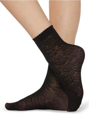 SOCKEN MIT GEOMETRISCHEM MUSTER - Socks - schwarz - 4544 - rose nero