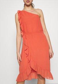 Bruuns Bazaar - ROSALINA KENDRA DRESS - Sukienka koktajlowa - poppy red - 3