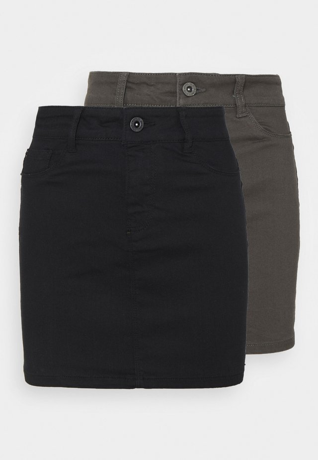 VMHOTSEVEN SHORT SKIRT 2 PACK - Minigonna - black/beluga
