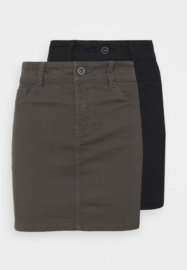 VMHOTSEVEN SHORT SKIRT 2 PACK - Minifalda - black/beluga