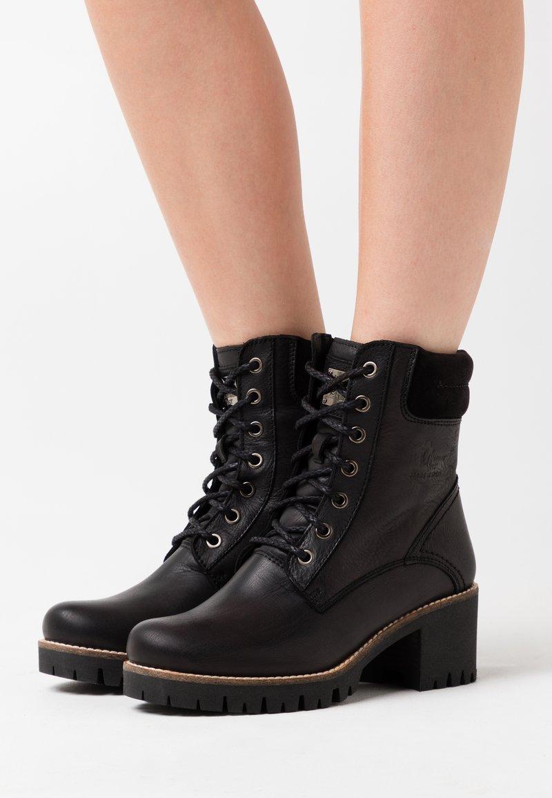 Panama Jack - PHOEBE - Lace-up ankle boots - black