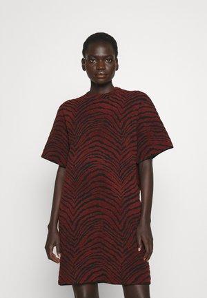 ANIMAL DRESS - Jurk - burgundy/black
