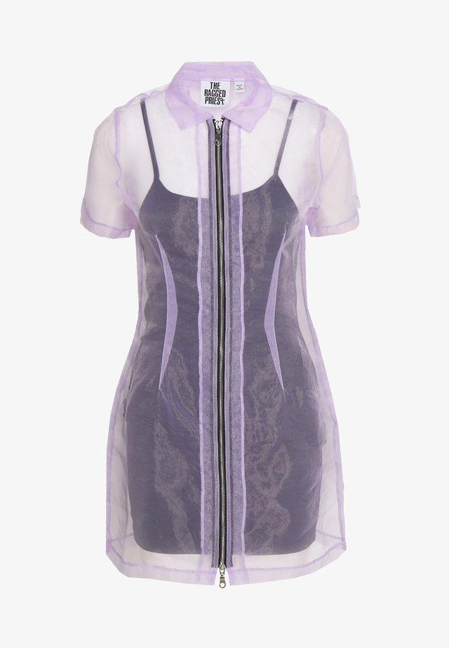 SHIRT DRESS - Cocktail dress / Party dress - lilac