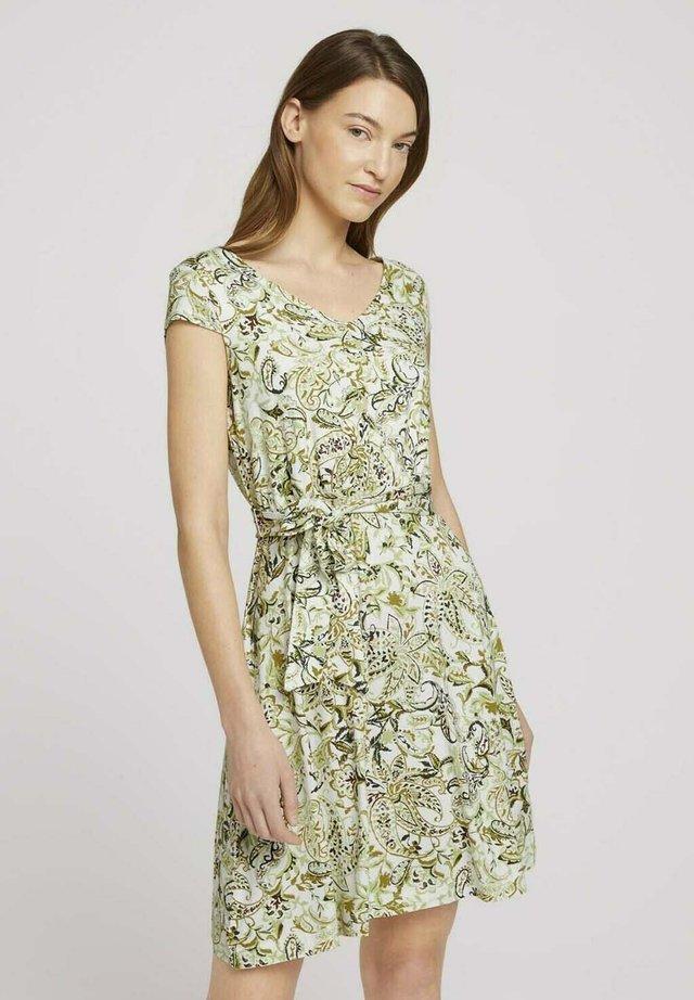 Sukienka letnia - green paisley design