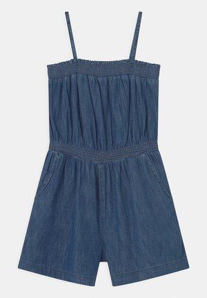 GIRL STRAPPY SMOCKED  - Jumpsuit - blue denim