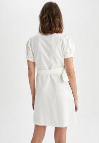 DeFacto - Shirt dress - white - 2