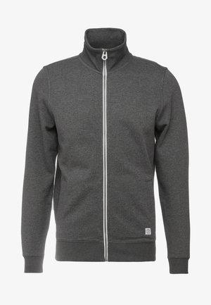 Zip-up hoodie - black grey melange
