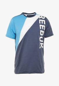 Reebok - OST BLOCKED TEE - T-shirt z nadrukiem - dark blue - 3
