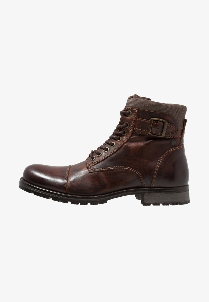 Jack & Jones - JFWALBANY - Lace-up ankle boots - brown stone