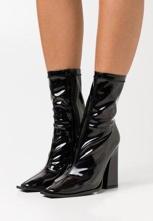 VEGAN  - Kotníková obuv na vysokém podpatku - black