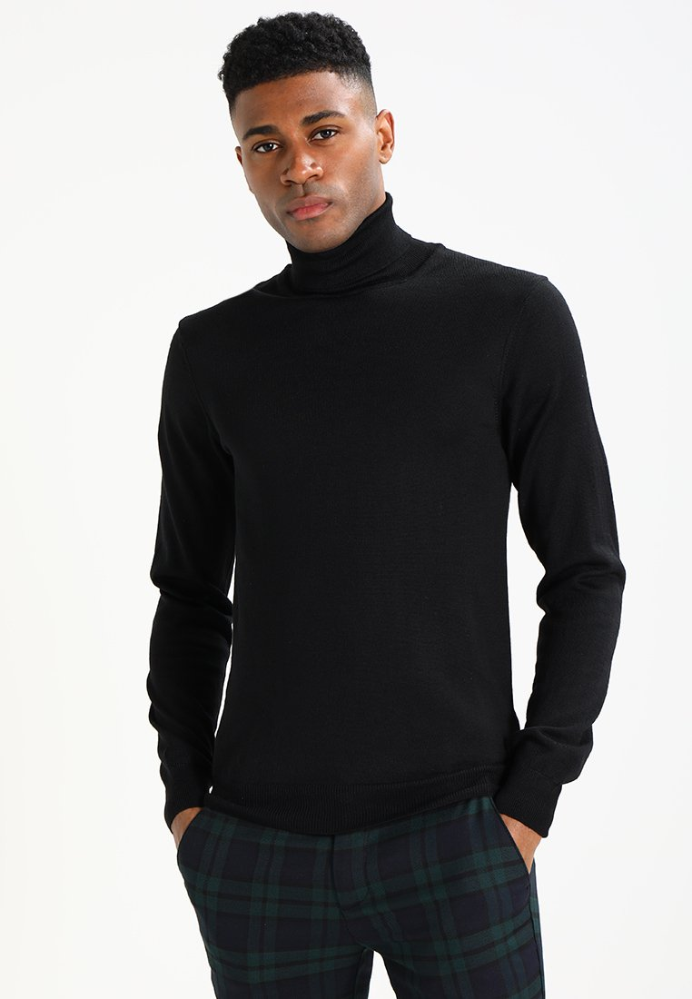 Casual Friday - KONRAD ROLL NECK - Jersey de punto - black