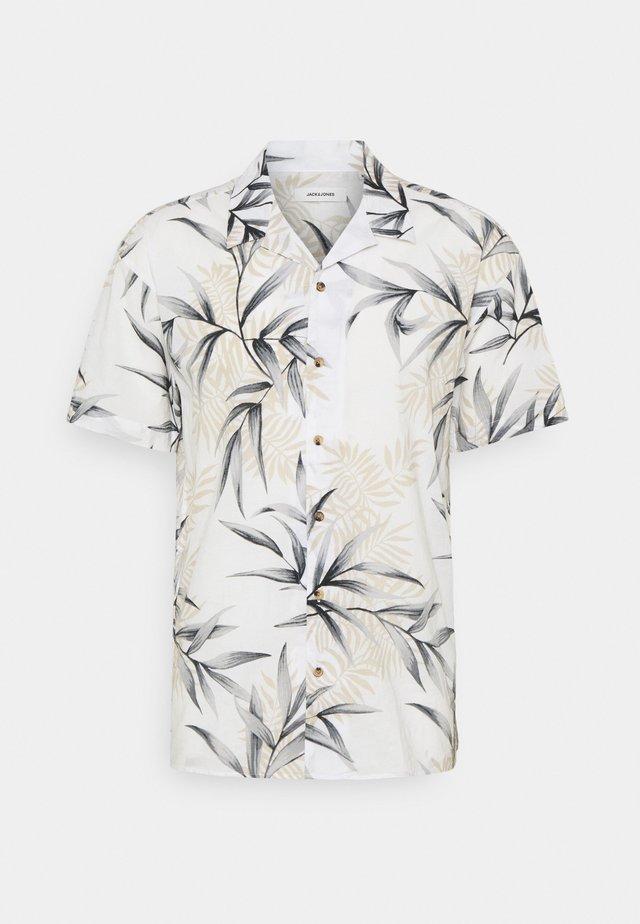 JJGREG PLAIN - Shirt - cloud dancer