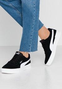 Puma - CARINA - Sneakers - black/silver - 0