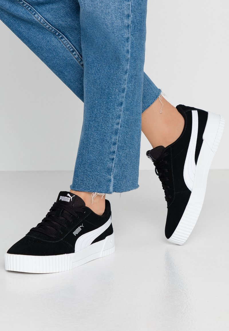 Puma - CARINA - Sneakers - black/silver