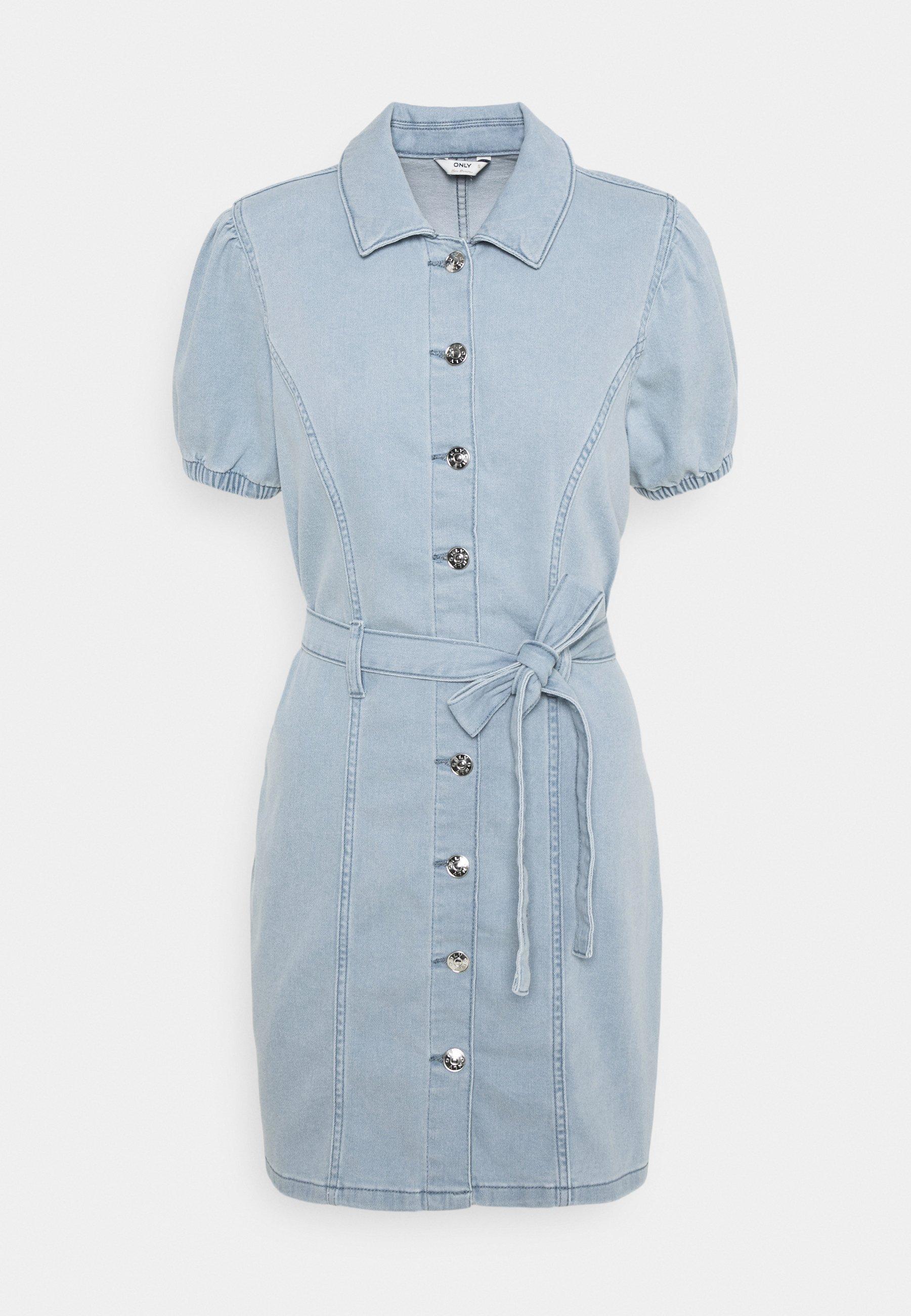 Women ONLVIBBE BELT DRESS - Denim dress