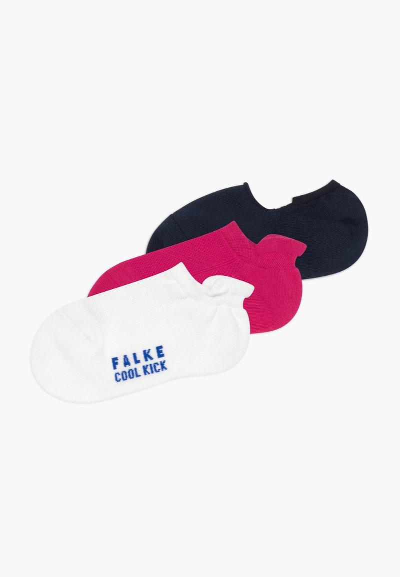 FALKE - COOL KICK 3 PACK - Socks - pink/white/dark blue