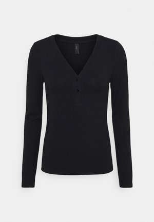 YASBLAX BUTTON - Long sleeved top - black