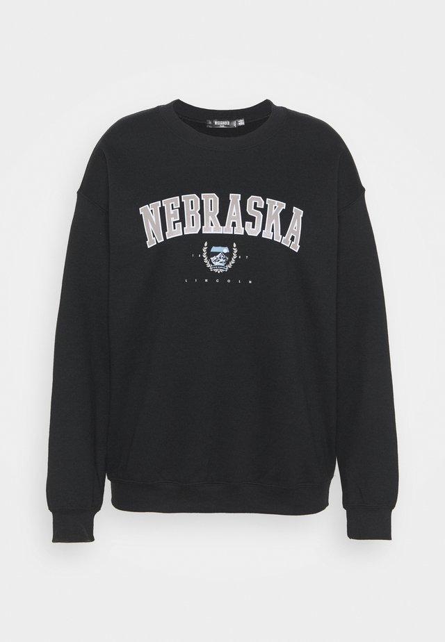 NEBRASKA - Collegepaita - black
