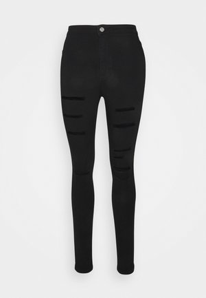 VICE RIP HIGH WAISTED - Jeans Skinny Fit - black
