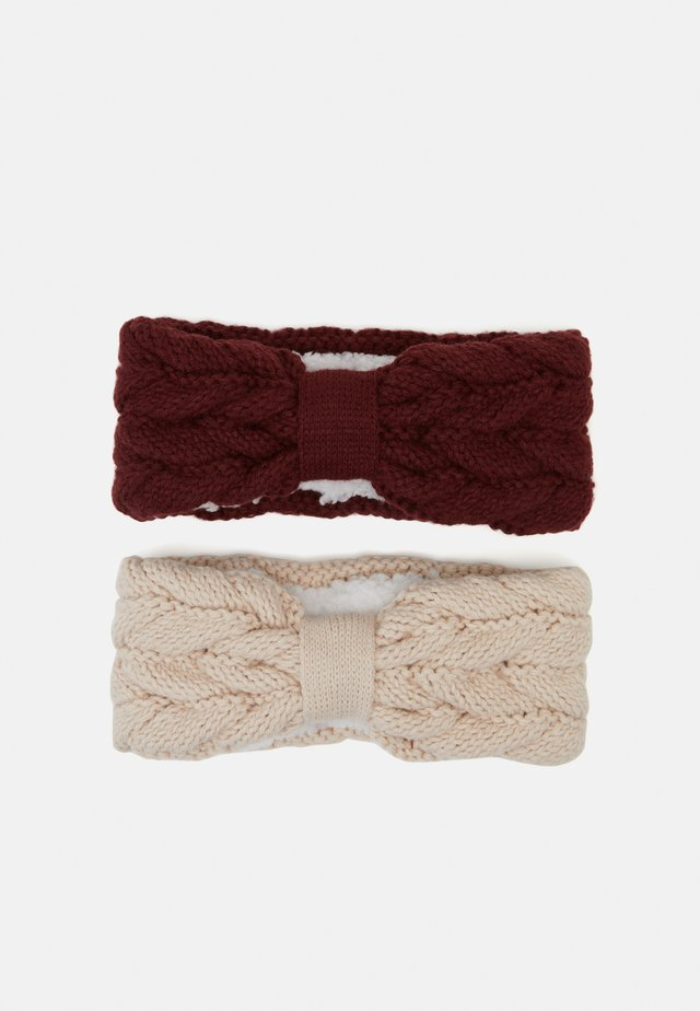 2 PACK - Oorwarmers - beige/bordeaux