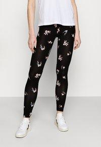 Even&Odd - 2 PACK - Leggings - black/multicolor - 1