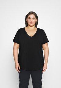Anna Field Curvy - Camiseta básica - black - 0