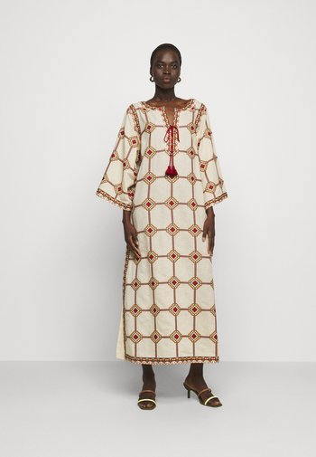 EMBROIDERED CAFTAN - Maxi dress - beige