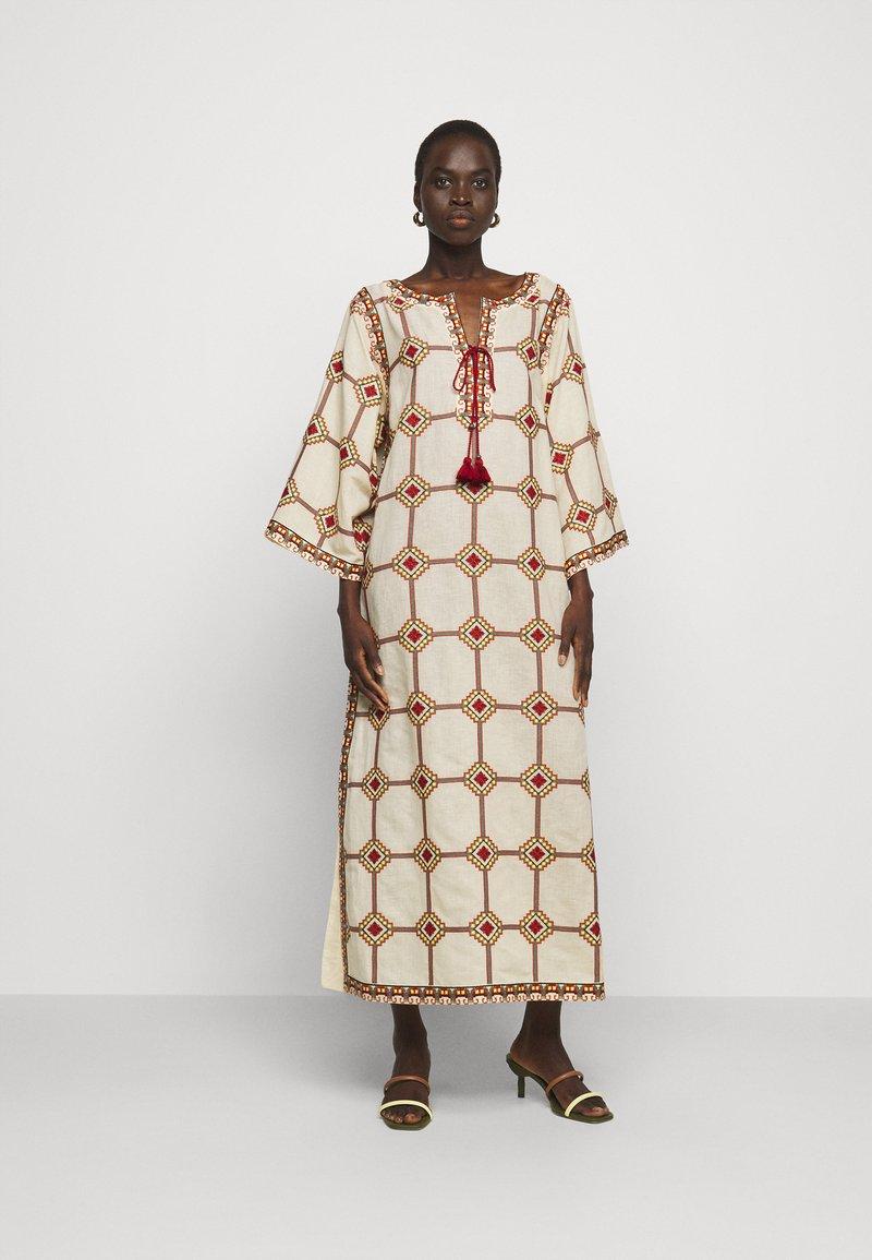 Tory Burch - EMBROIDERED CAFTAN - Długa sukienka - beige