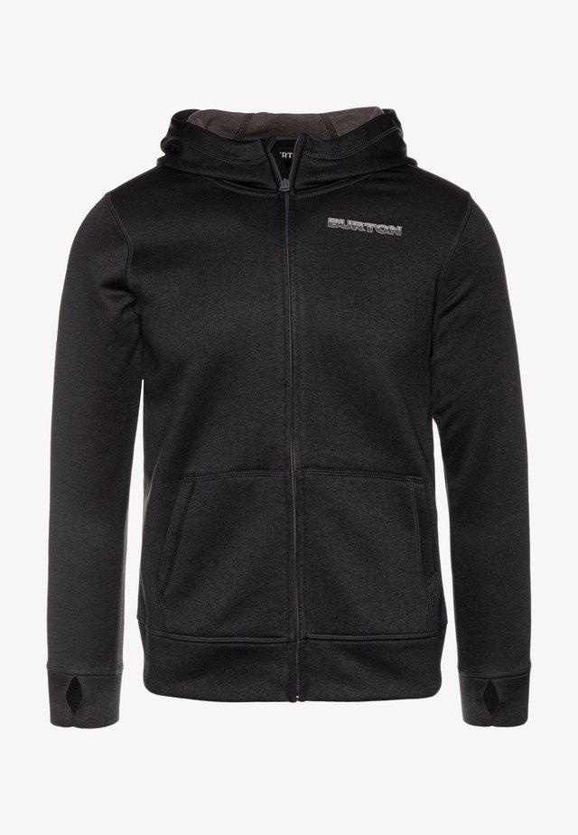 OAK - veste en sweat zippée - true black heather