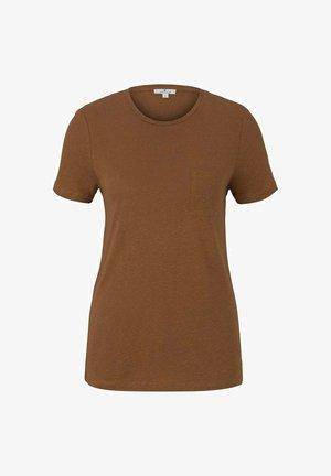 Basic T-shirt - caramel brown