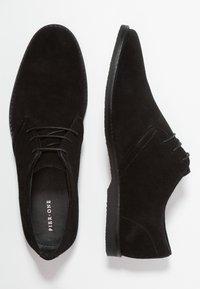 Pier One - LEATHER - Zapatos con cordones - black - 1