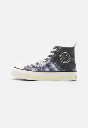 VEGAN BRITT RETRO  - Sneakersy wysokie - black