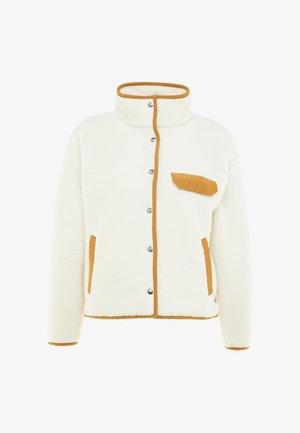 CRAGMONT JACKET - Fleece jacket - vintage white/cedar brown