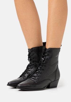 BAVIERA - Bottines à lacets - new black