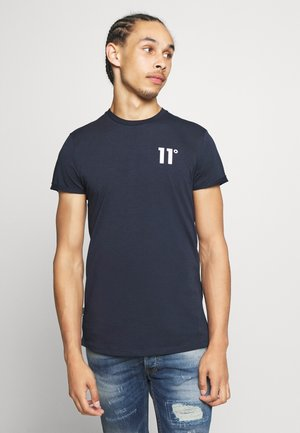 CORE MUSCLE FIT - T-shirt con stampa - navy
