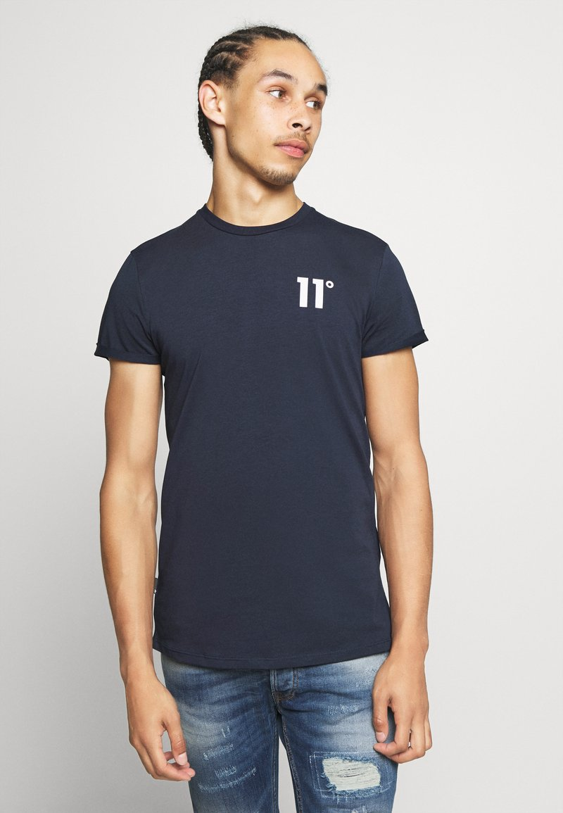 11 DEGREES - CORE MUSCLE FIT - Print T-shirt - navy