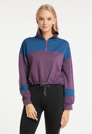 Sweatshirt - lila blau