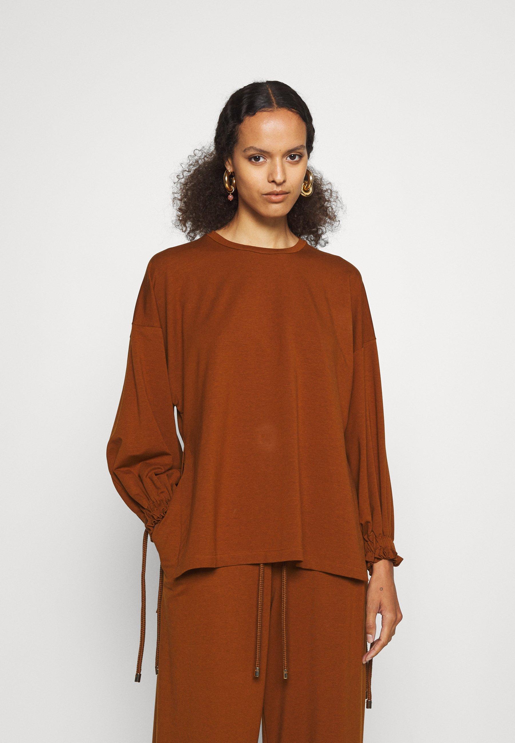 Women ROPE TIE ELASTICATED CUFFS - Long sleeved top