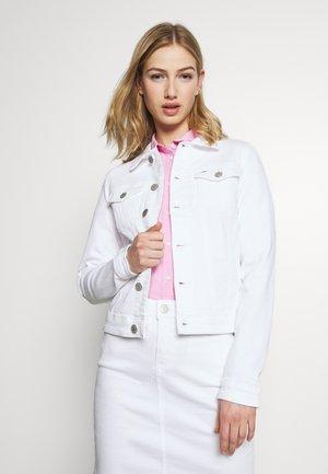 SLIM TRUCKERJACKET - Denim jacket - candle white