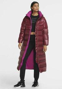 Nike Sportswear - PARKA - Down coat - dark beetroot cactus flower black - 1