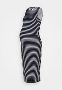 Dorothy Perkins Maternity - BODY CON DRESS - Jersey dress - blue with white stripes - 0