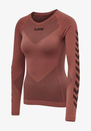 FIRST SEAMLESS WOMAN - Long sleeved top - marsala