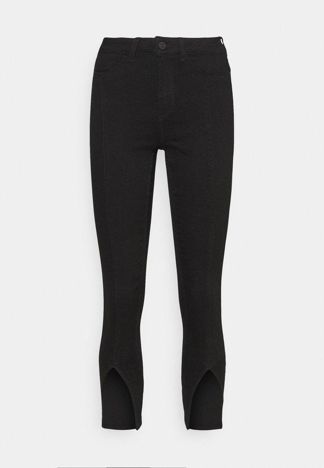 NMCALLIE SLIT DETAI - Jeans Skinny Fit - black denim