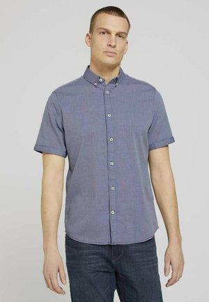 Shirt - navy white structure