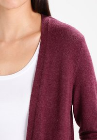 Vila - VIRIL LONG CARDIGAN  - Cardigan - fig/melange - 3