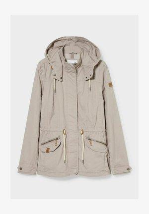 MIT KAPUZE - Outdoor jacket - sandfarben