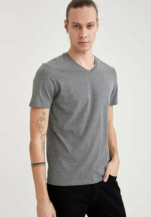 T-shirt - bas - anthracite