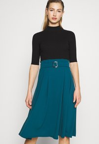 WAL G. - EMERSON MIDI SKIRT - A-line skirt - dark teal blue - 3