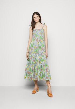 PRINTED TIE SHOULDER DRESS - Denní šaty - wallpaper